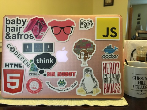 Stickers on MacBook